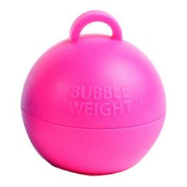 HOT PINK BUBBLE BALLOON WEIGHTS PACK 25