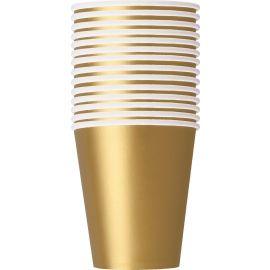 PAPER CUPS 270 ML 14 PK GOLD