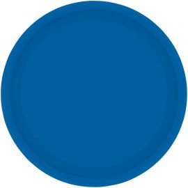 7 INCH BRIGHT ROYAL BLUE PLATE PK OF 8 54015-105 013051550356