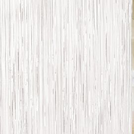 WHITE DOOR CURTAIN/BALLOON TASSEL 91CM X 2.43M