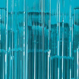CARIBBEAN BLUE DOOR CURTAIN/BALLOON TASSLE 91.4CM