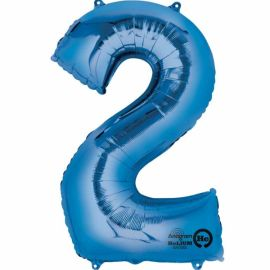 34 INCH BLUE NUMBER 2 BALLOON