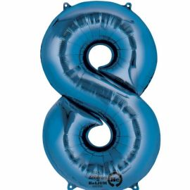 34 INCH BLUE NUMBER 8 BALLOON