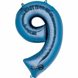 34 INCH BLUE NUMBER 9 BALLOON