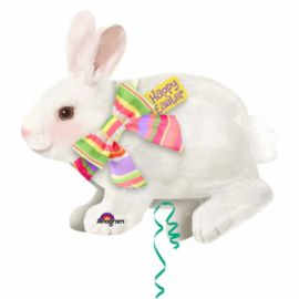 28 INCH FOIL HAPPY EASTER BUNNY
