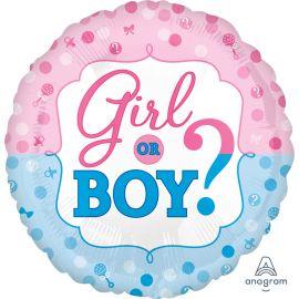 18 INCH GIRL OR BOY FOIL BALLOON