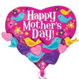 22 INCH HAPPY MOTHERS DAY BIRDS & FLOWERS