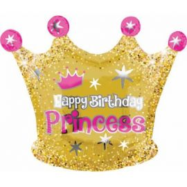 20 INCH HAPPY BIRTHDAY PRINCESS CROWN