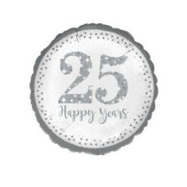 18 INCH 25 HAPPY YEARS FOIL