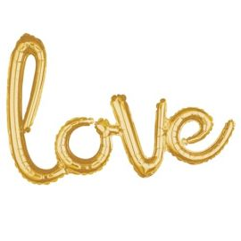 AIR FILLED LOVE GOLD 31 INCH X 21 INCH