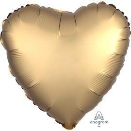 SATIN GOLD SATEEN HEART 18 INCH BALLOON