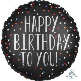 18 INCH HAPPY BIRTHDAY TO YOU SATIN DOTS 3906201 026635390620