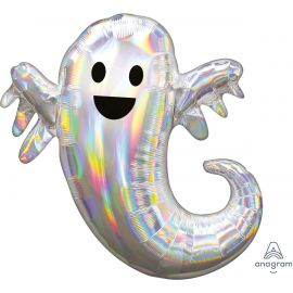 28 INCH IRIDESCENT GHOST SUPERSHAPE FOIL 3998601 026635399869