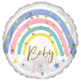 18 INCH PASTEL RAINBOW BABY