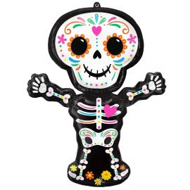 34 INCH DAY OF THE DEAD STANDING FOIL 4316501 026635431651