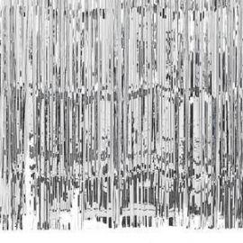 SILVER DOOR CURTAIN/BALLOON TASSEL 91CM X 2.43M