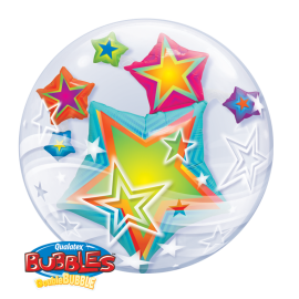 24 INCH DOUBLE BUBBLE WITH STARS