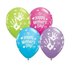 11 INCH MOTHERS DAY HAND PRINTS 25CT