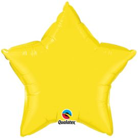 20 INCH YELLOW STAR FOIL