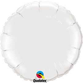 WHITE 18 INCH ROUND BALLOON