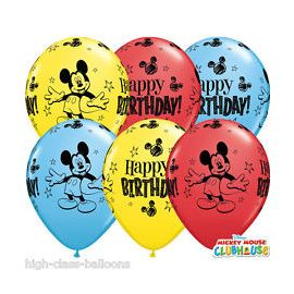 11 INCH DISNEY MICKEY MOUSE BALLOONS 25CT