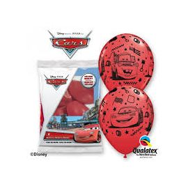 12 INCH RED LIGHTNING MCQUEEN PK OF 6