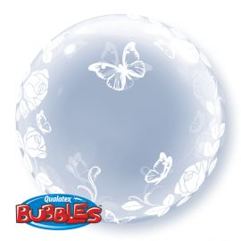 24INCH BUBBLE ROSES BUTTERLY