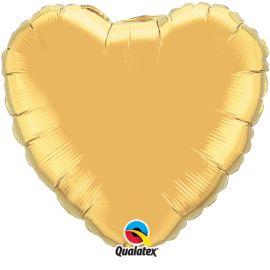GOLD 36 INCH HEART BALLOON
