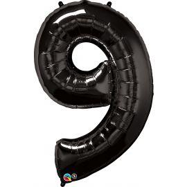 34 INCH NUMBER NINE BLACK BALLOON