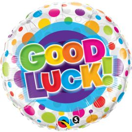 18 INCH GOOD LUCK COLOURFUL DOTS