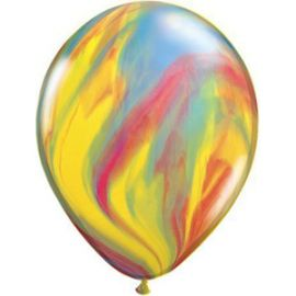 11 INCH TRADITIONAL SUPERAGATE LATEX BALLOONS 25CT