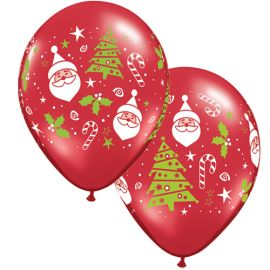 11 INCH SANTA & CHRISTMAS TREE 50CT
