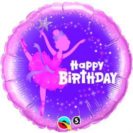 18 INCH HAPPY BIRTHDAY BALLERINA BALLOON
