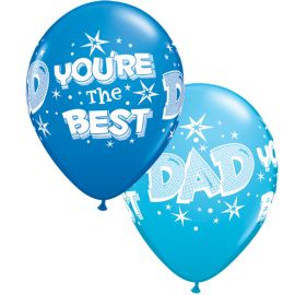 11 INCH DAD YOURE THE BEST BALLOON 25CT