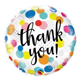 18 INCH THANK YOU COLOURFUL DOTS
