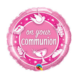 18 INCH ON YOUR COMMUNION PINK