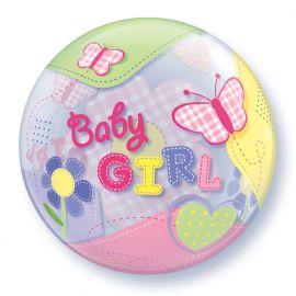 22 INCH SINGLE BUBBLE BABY GIRL BUTTERFLIES