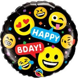 18 INCH SMILEYS HAPPY BIRTHDAY 78718 071444787161