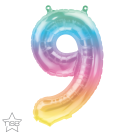 16 INCH JELLI PASTEL OMBRE NUMBER 9 FOIL