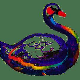 35 INCH GRACEFUL SWAN