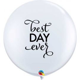 3FT RND WHITE SIMPLY BEST DAY EVER 02CT