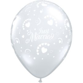 16 INCH JUST MARRIED DIAMOND CLEAR 50CT