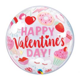 22 INCH EVERYTHING VALENTINES SINGLE BUBBLE