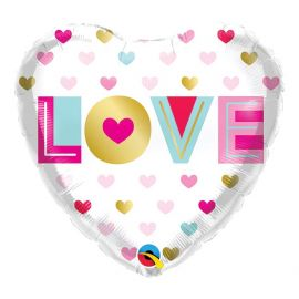 18 INCH LOVE METALLIC HEARTS