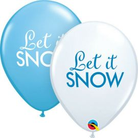 11 INCH SIMPLY LET IT SNOW PK OF 25