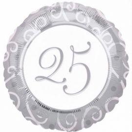 18 INCH 25TH ANNIVERSARY FOIL