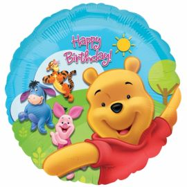 18 INCH POOH & FRIENDS HAPPY BDAY