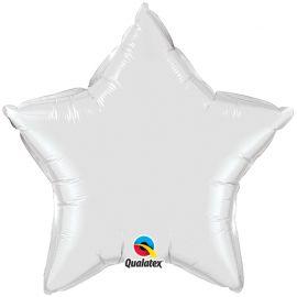 WHITE 36 INCH STAR BALLOON