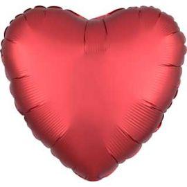 18 INCH SANGRIA HEART SATIN 026635385848
