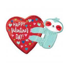 SUPERSHAPE HAPPY VALENTINES DAY SLOTH 026635404747